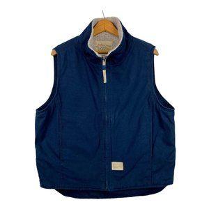 Field N Forest Trucker Vest Canvas Fleece Lined L